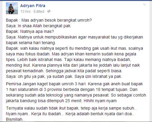 Jokowi Umrah, Alhamdulillah
