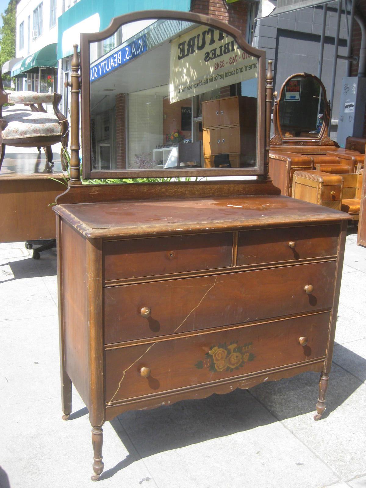 uhuru furniture collectibles sold antique dresser and mirror 100. Black Bedroom Furniture Sets. Home Design Ideas