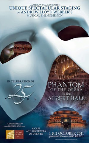 The Phantom of the Opera at the Royal Albert Hall 2011 poster