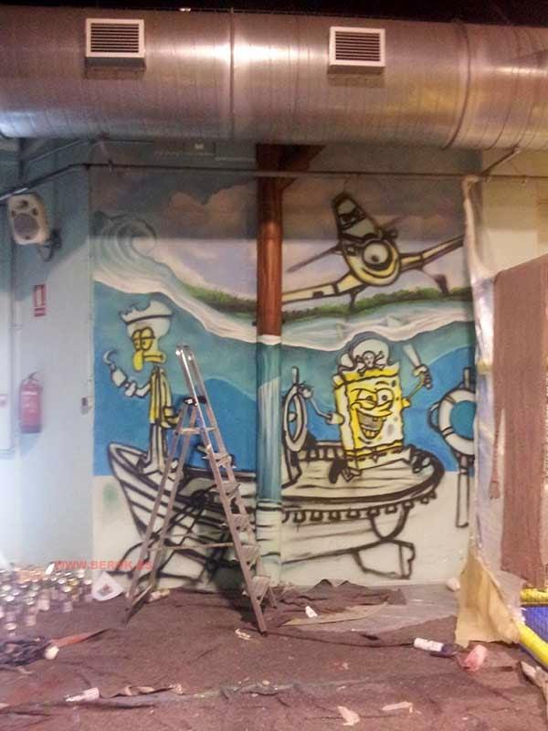 Graffitis en proceso