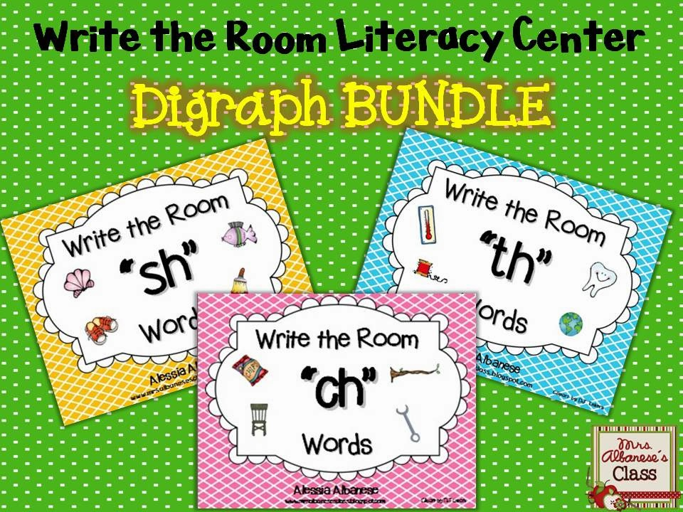 http://www.teacherspayteachers.com/Product/Write-the-Room-Literacy-Center-Digraphs-BUNDLE-1128658