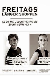Neue Öffnungszeiten im Designer Outlet Salzburg an den Freitagen, seit 01.06.2014
