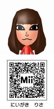 新垣里沙(モーニング娘。)のMii QRコード トモダチコレクション新生活