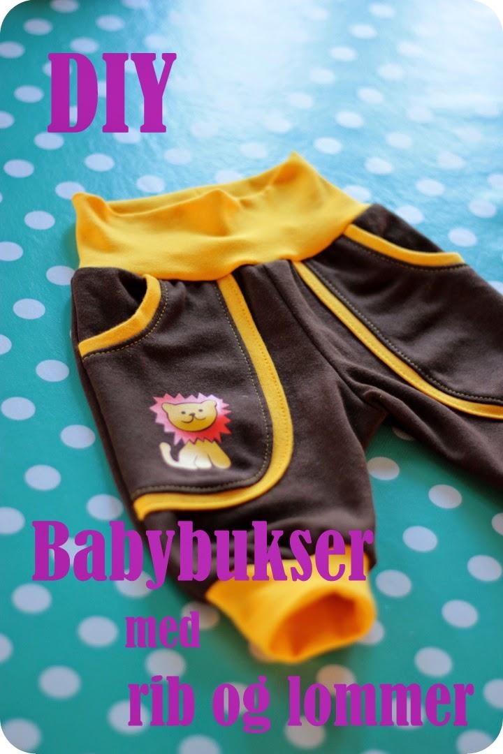 Comfortable baby pants sewing
