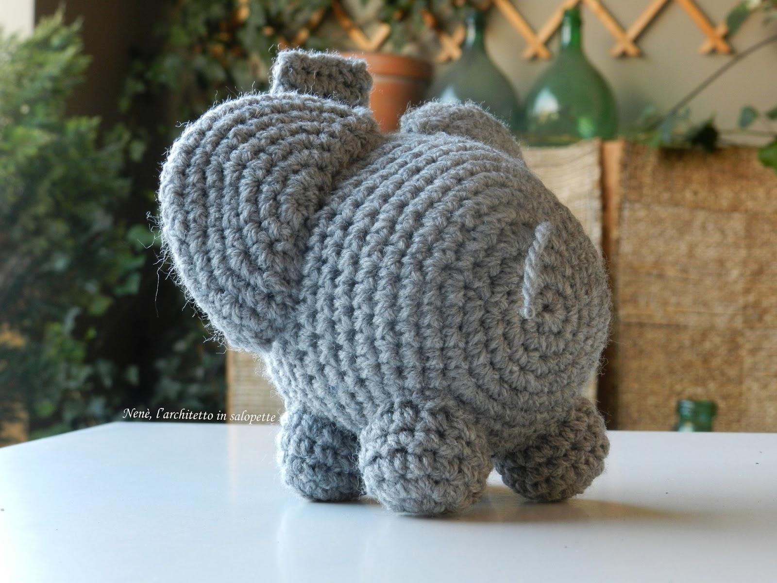 Uncinetto Amigurumi Elefante : Larchitetto in salopette: Passione amigurumi: Tino l ...