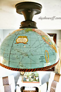 Lamp made with a globe