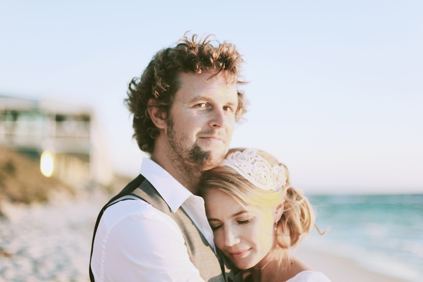 perth beach wedding