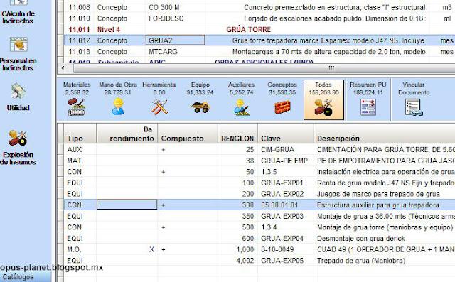 Error al importar de Opus 2010 a Opus Planet