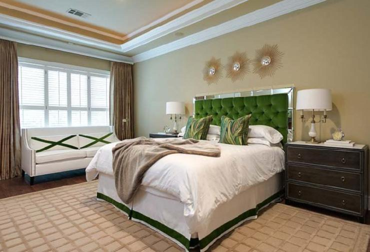 Ansley designs birthstone decor emerald green bedrooms for Emerald green bedroom ideas
