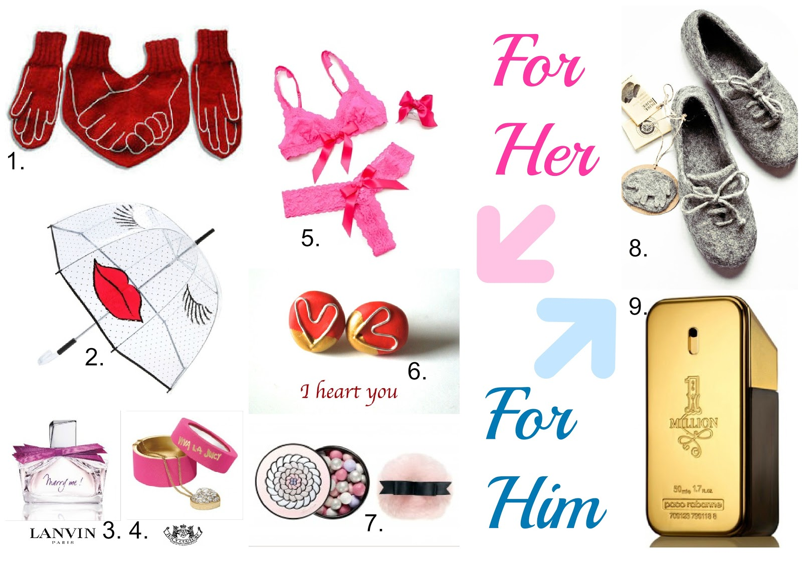 Gift Ideas for Valentine's Day- For Him and For Her