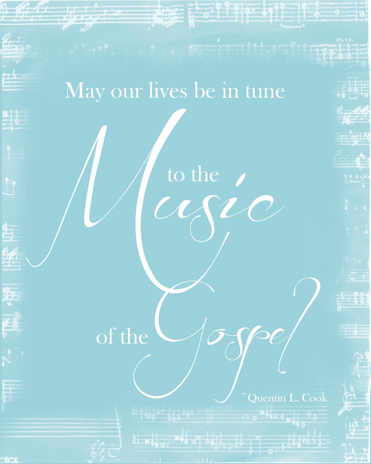 Quotes Music General Conference April 2012 Free Printable Quote Music Of The
