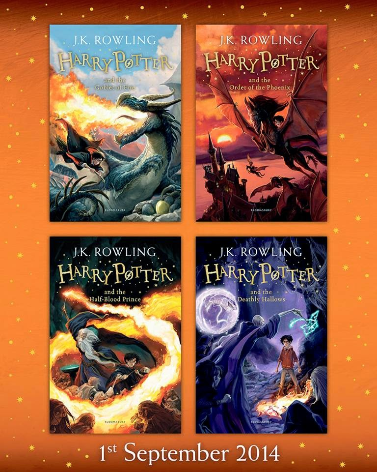 Harry Potter Book Cover Replacement ~ Bloomsbury unveils the redesigned covers of last four