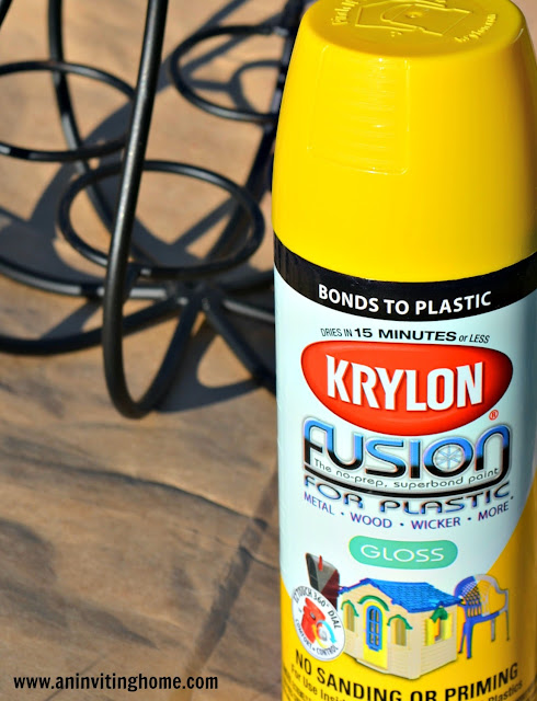 Krylon yellow spray paint