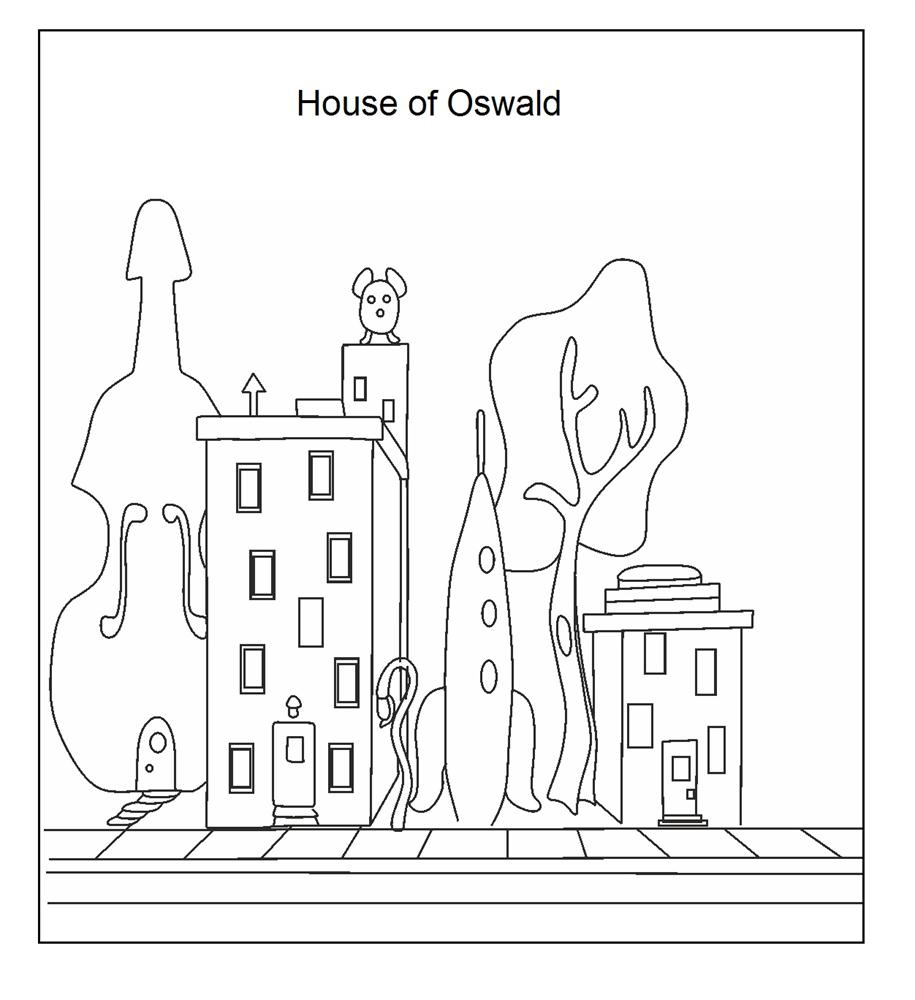 oswald octopus coloring pages dudeindisneycom - Oswald Octopus Coloring Pages