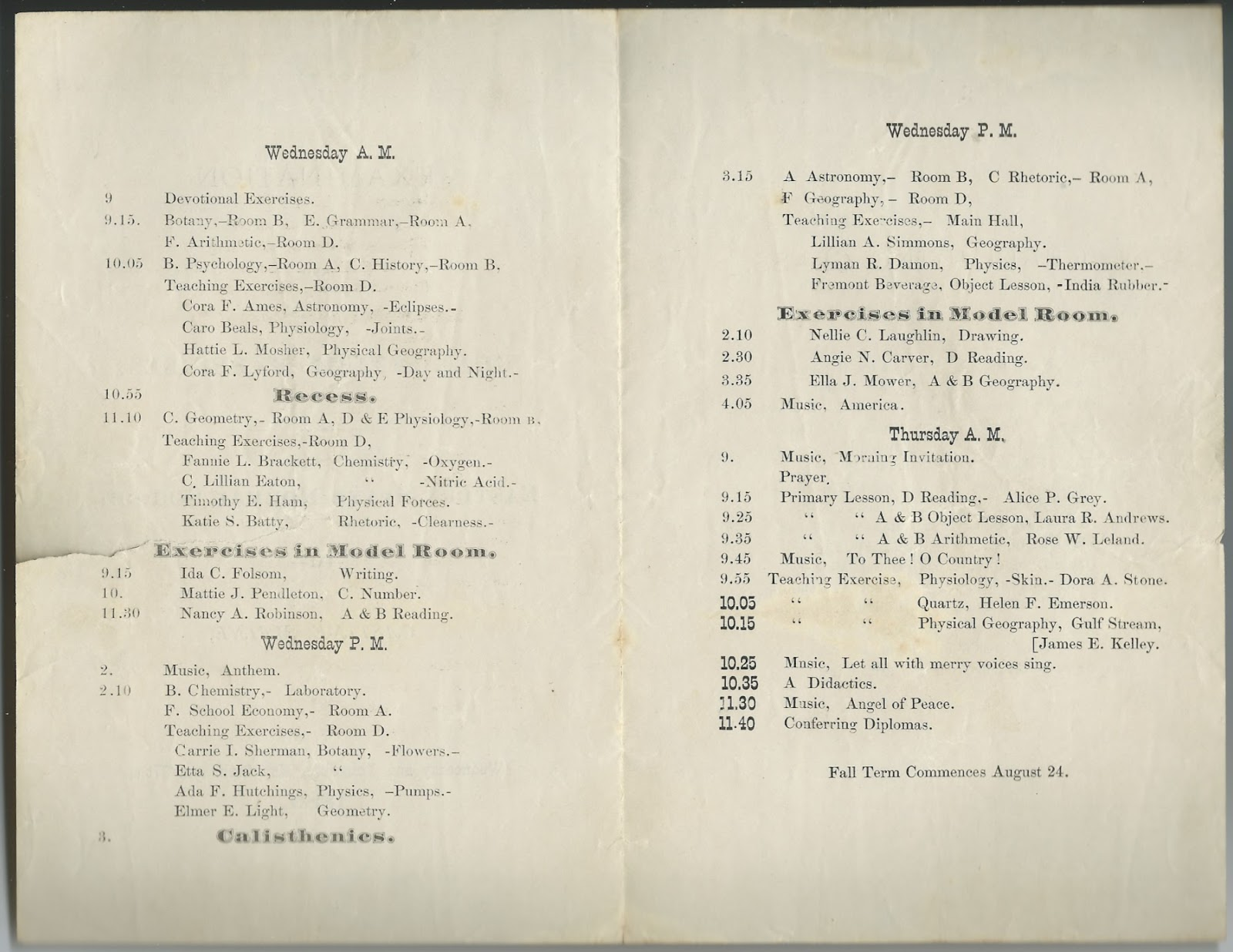 Heirlooms Reunited 1880 Examination Graduation