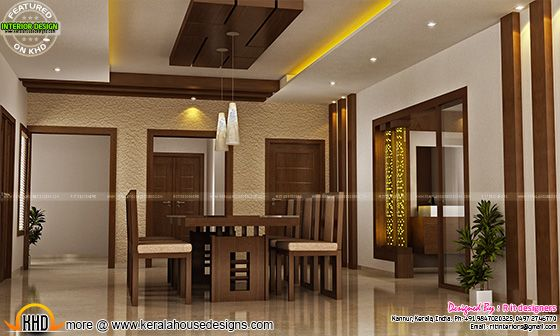 Dining interior in Kerala