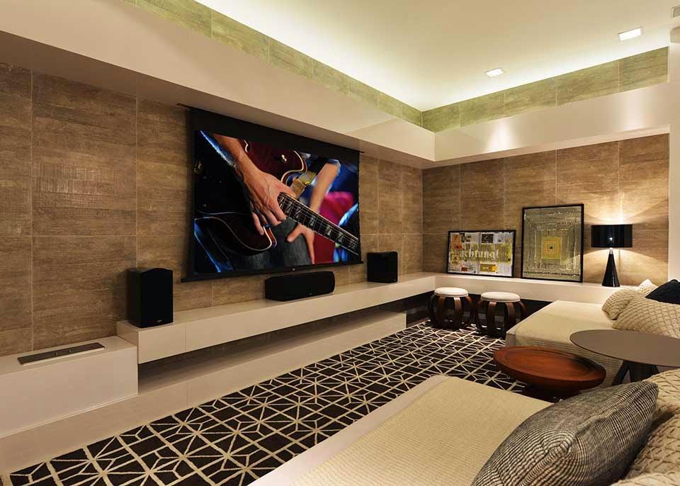 decoracao home theater ambientes pequenos : decoracao home theater ambientes pequenos:Home Theater – veja 30 salas decoradas, mais dicas e tendências