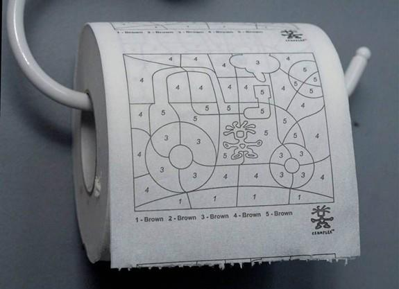 Toilet paper for artists
