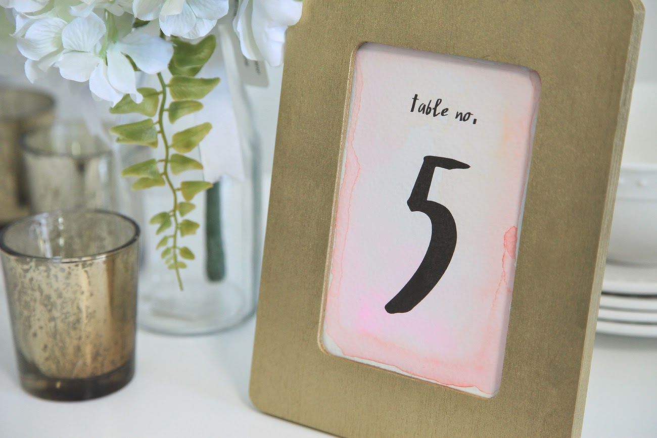 Superb img of Unify Handmade: DIY Watercolor Wedding Table Numbers with #7B734D color and 1300x867 pixels
