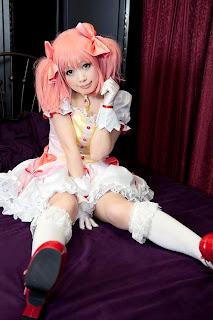 Shizuku Cosplay as Kanme Madoka from Puella Magi Madoka Magica