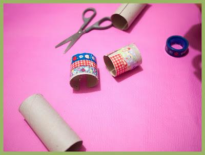Brazaletes con washi-tape