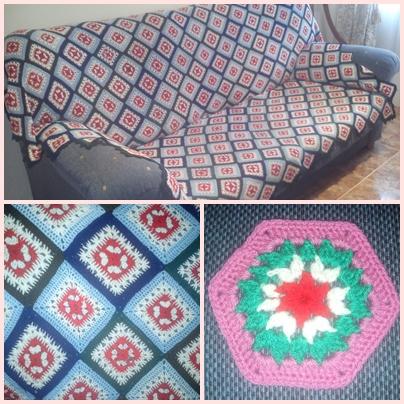 Kekukilinares plaid para sof tejido a crochet - Tejidos para sofas ...