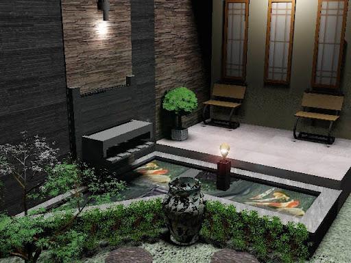 teras rumah minimalis sederhana di samping dan belakang rumah