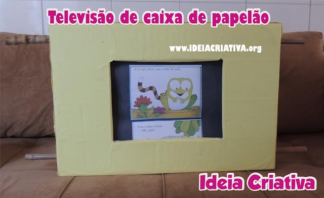 Contação de História com TELEVISÃO DE CAIXA DE PAPELÃO