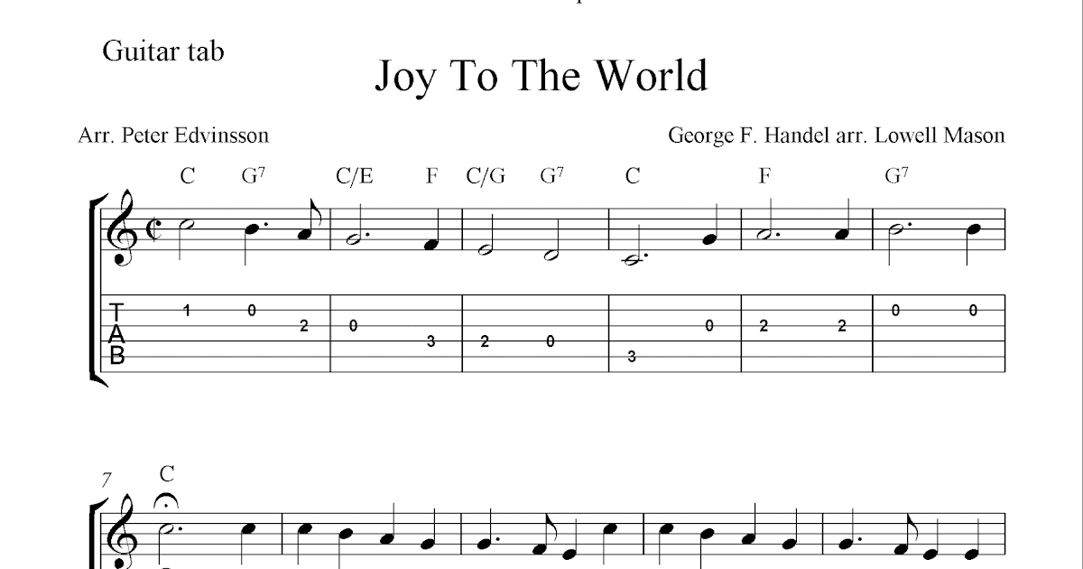 Guitar Chords Joy To The World