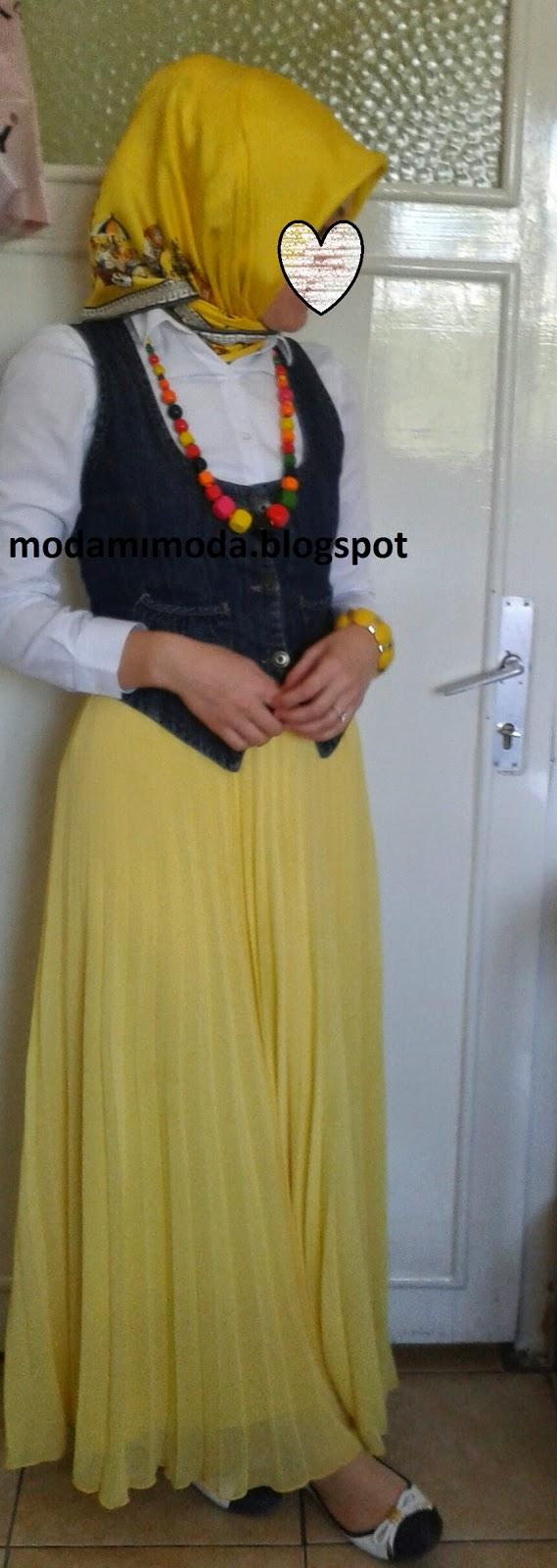 sarı eşarp