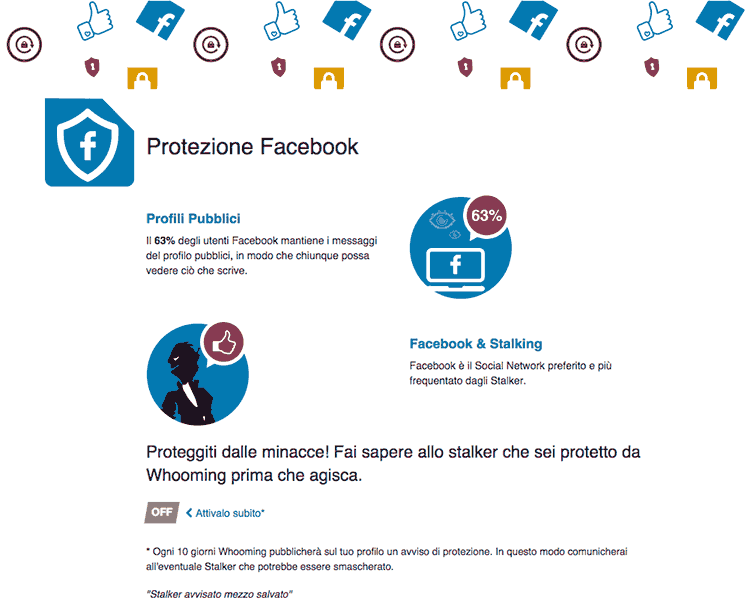 Whooming: protezione facebook