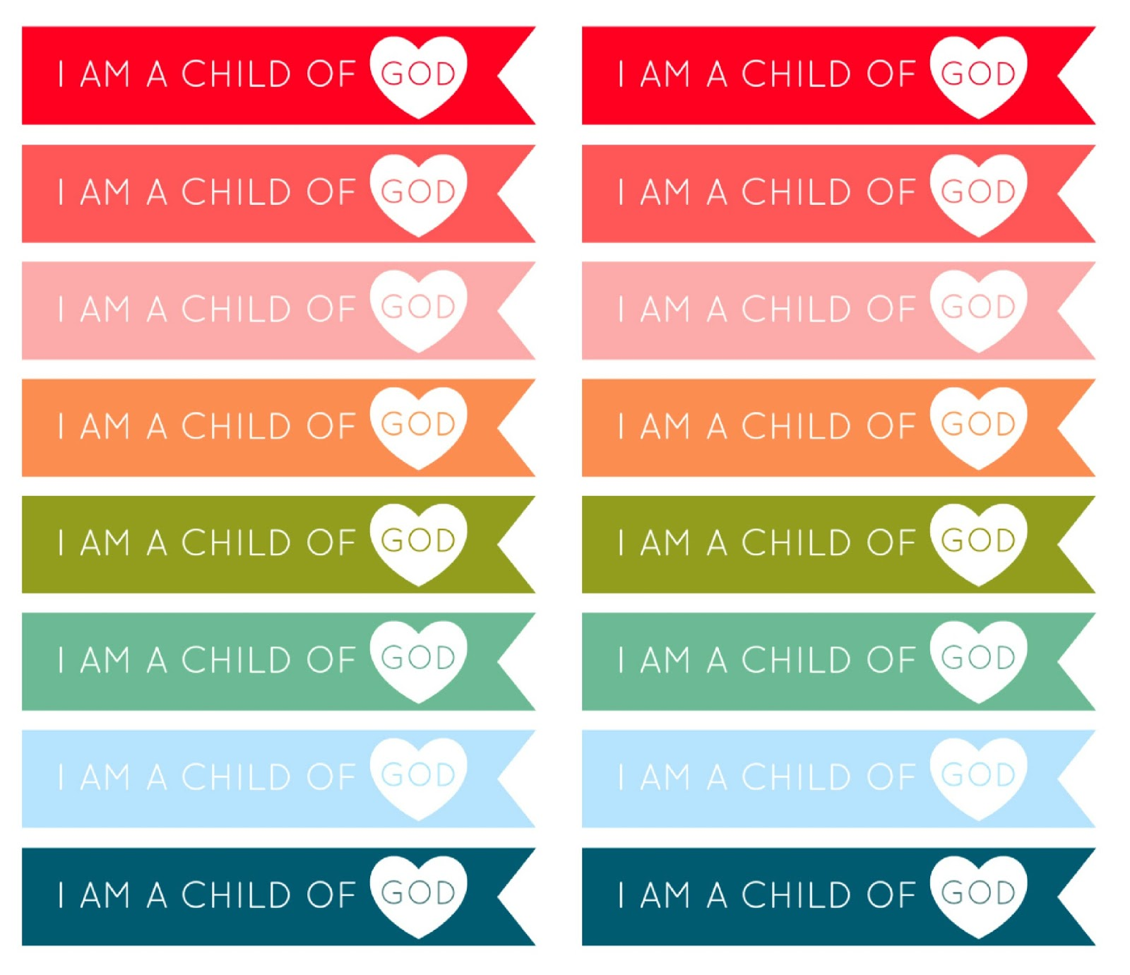 Adaptable image for i am a child of god printable