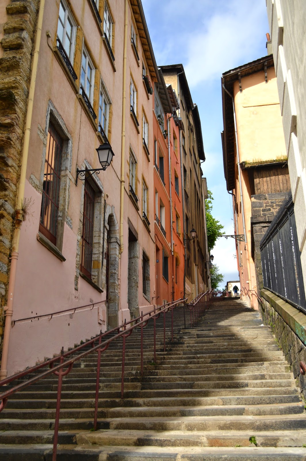Steps and stairs in Lyon streets