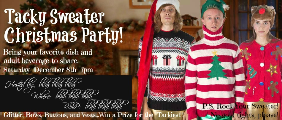 Tacky Sweater Christmas Party Curb Alert Blog