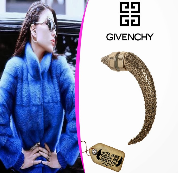 Haifa Wehbe Was The First Middle Eastern Celebrity To Wear Givenchy Horn Magnetic Earrings This Time Is Wearing Gold Str