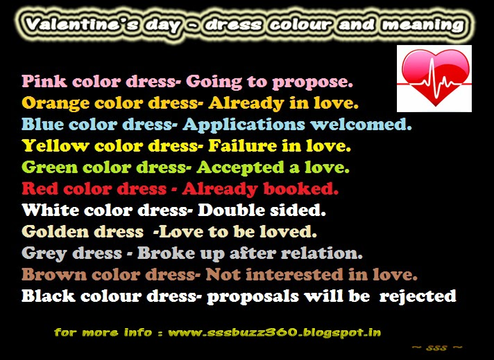 valentine's day dress colours and their meanings, Ideas