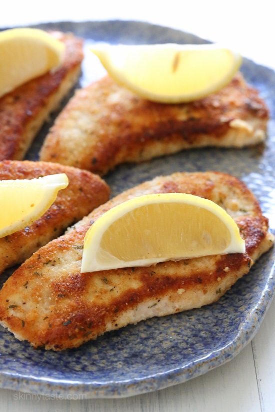 Turkey Cutlets with Parmesan Crust | Skinnytaste | Bloglovin'