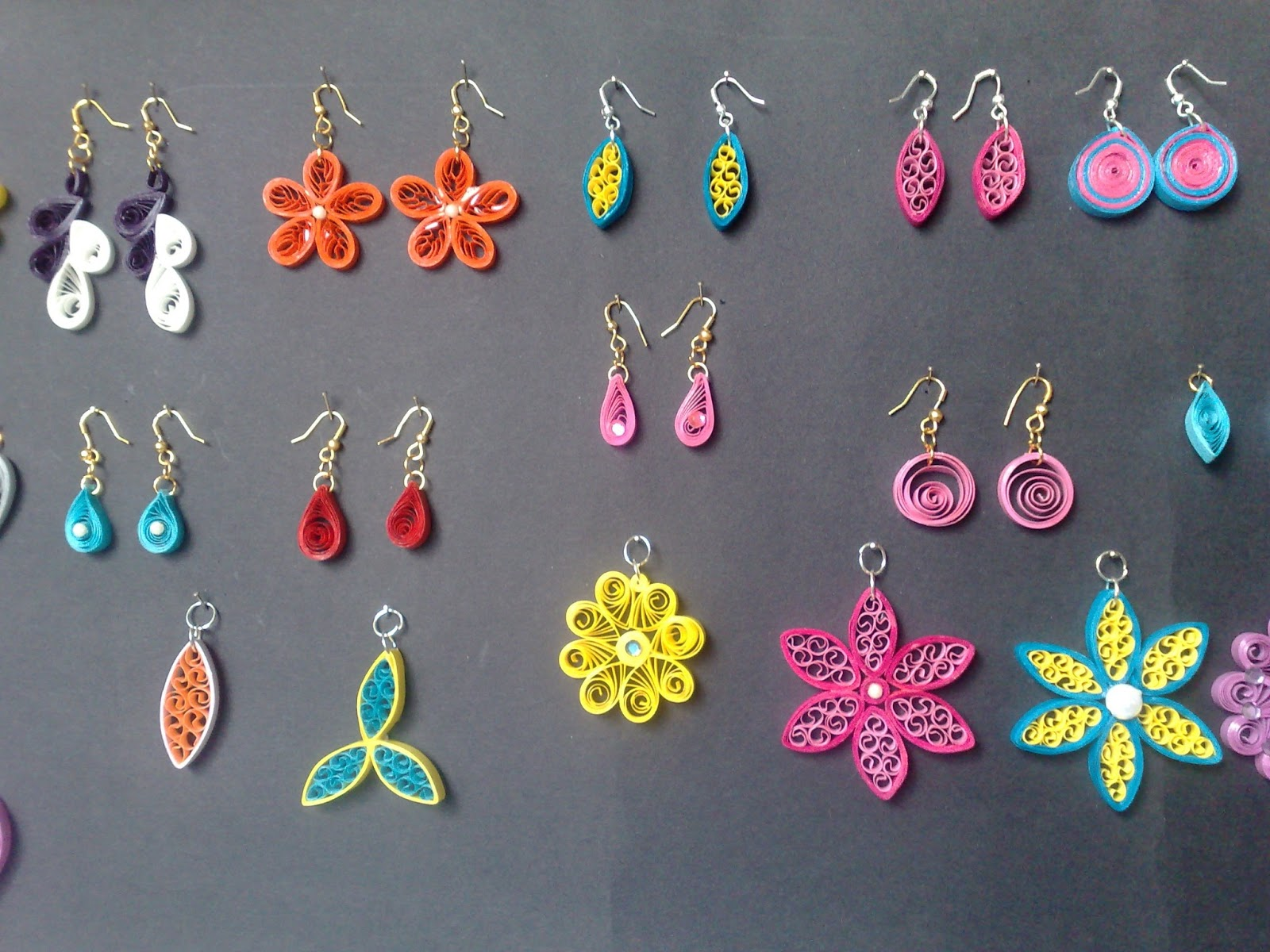 Quilling Earrings Designs Images : Sathyacraft: Quilled Jewellery