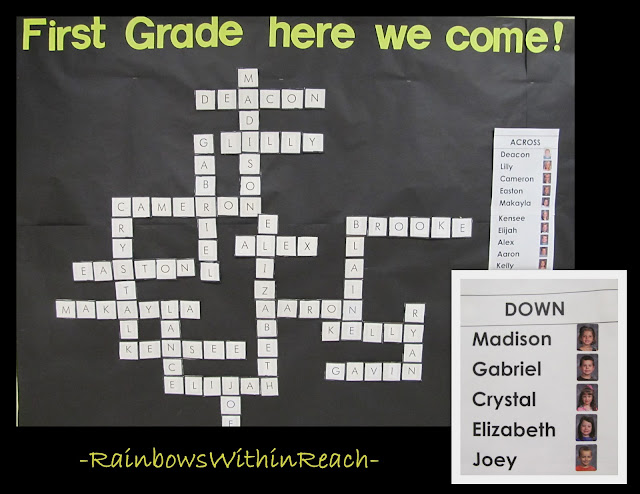 photo of: Bulletin Board for first grade, Bulletin board for kindergarten graduation