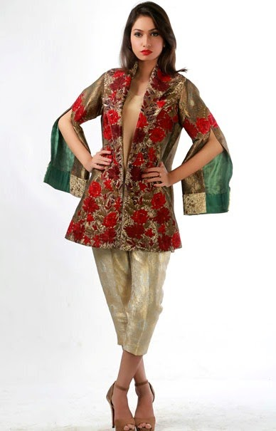 New Pakistani pret dresses 2015