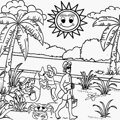 seashore blazing lovely tropical beach sun playgroup printable pictures for kids coloring activities