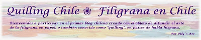 Quilling Chile ❀ Filigrana en Chile (By Pily Núñez)