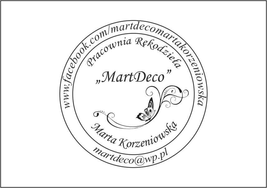 """Pracownia Rękodzieła """"MartDeco"""" Marta Korzeniowska"""