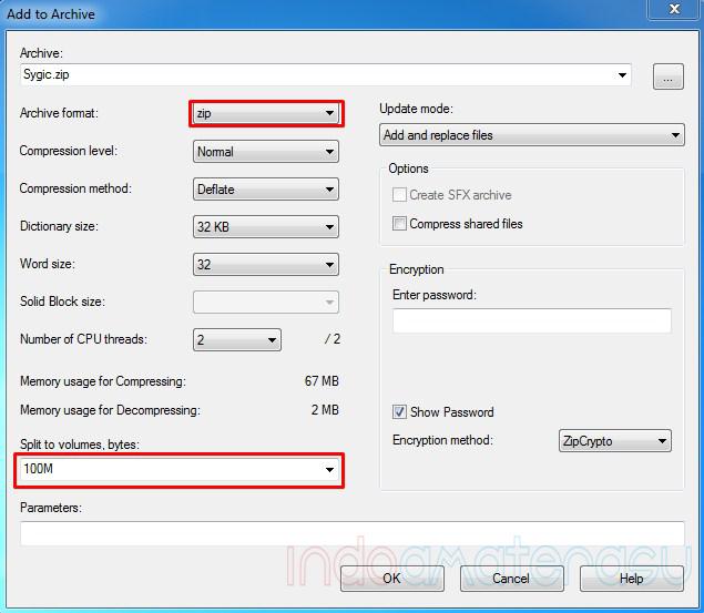 Cara Memecah File dan Menggabungkan File Dengan 7zip 3
