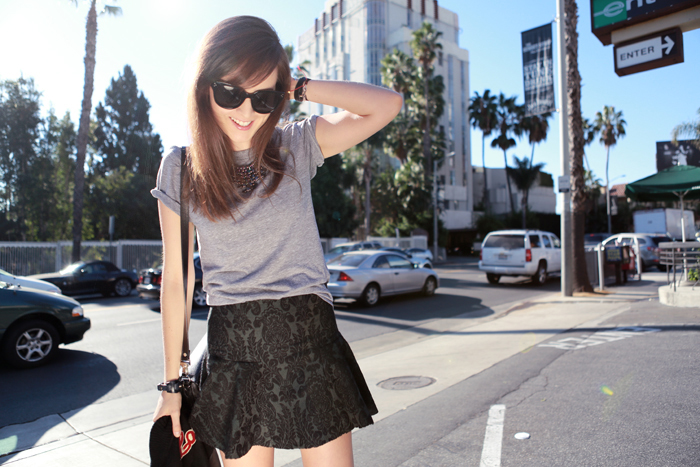 fashion blogger Andy Torres from stylescrapbook on Sunset Blvd