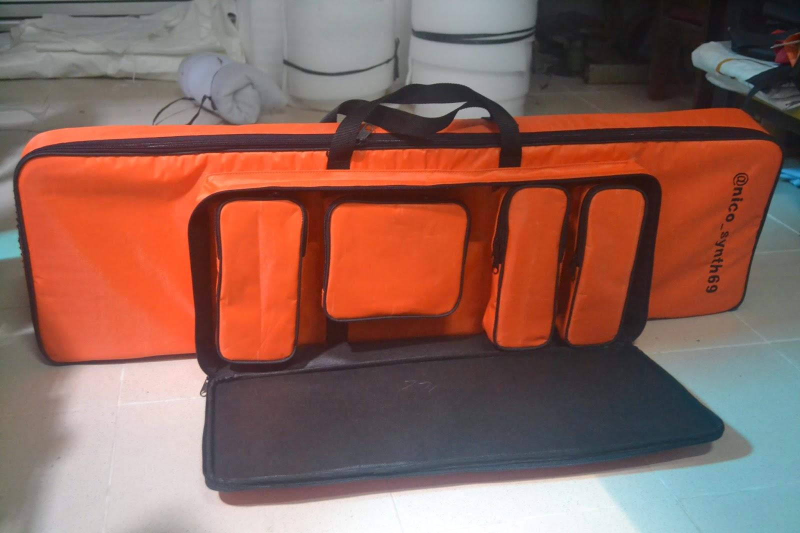 Tas/Softcase Keyboard KORG X50 wadah pedal, kabel, dan lain lain