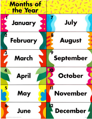 For Primary Kids: English 3rd and 4th - Months of the year ...