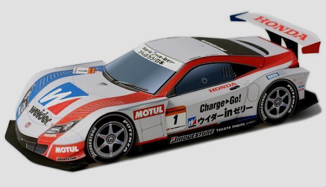 2011`s Honda HSV 010 Paper Model   By Epson Nakashima Racing