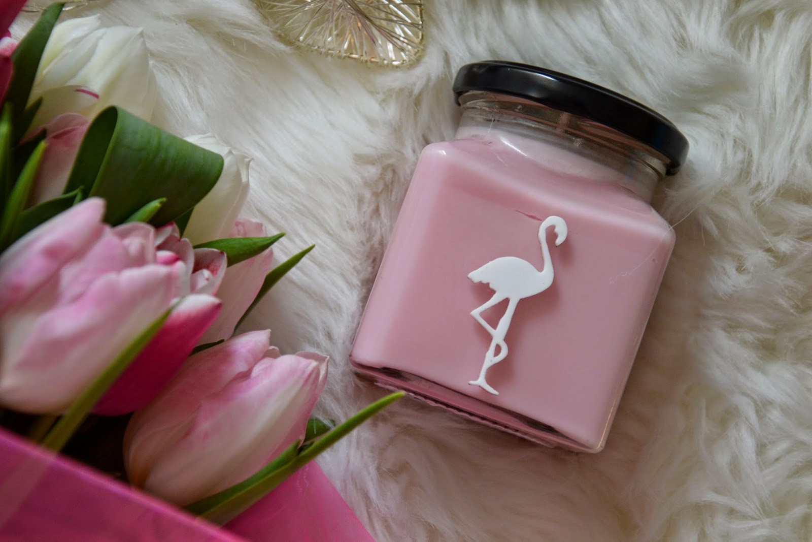 Flamingo candle mothers day gift