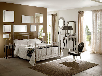 Kamar Tidur Dengan Dekorasi Cermin